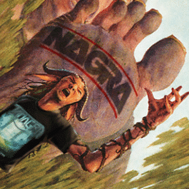 RockmusicRaider - Tanagra stepped on by Nagra's foot.